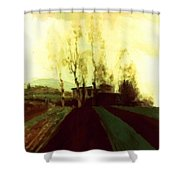 Arable Land Corridors In The Early Spring Shower Curtain
