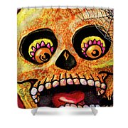 Aranas Sugarskull Of Spiders Shower Curtain