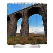 Arches And Piers Of The Ribblehead Viaduct North Yorkshire Shower Curtain