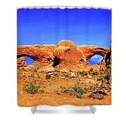 Arches Moon Eye Shower Curtain