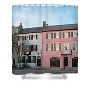Architectural Photograph Of Rainbow Row On East Bay Street - Charleston South Carolina Shower Curtain