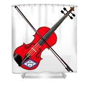 Arkansas State Fiddle Shower Curtain