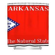 Arkansas State License Plate Shower Curtain