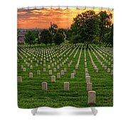 Arlington National Cemetery Sunrise Shower Curtain