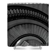 Arlington Stairs Layers Grayscale Shower Curtain