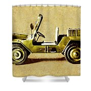 Army Jeep Shower Curtain