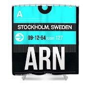 Arn Stockholm Luggage Tag II Shower Curtain
