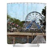 Arnolds Park - Grunge Look Shower Curtain