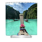 Arriving In Phi Phi Island, Thailand Shower Curtain