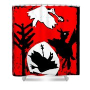 Arrow Shot Bird Shower Curtain