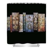 Art Panels - Antique Wallpaper  Shower Curtain