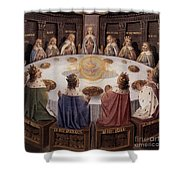 Arthurian Legend, The Knights Of The Round Table Shower Curtain