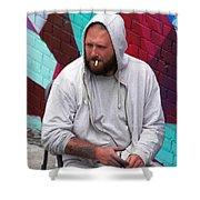 Artist Frown Shower Curtain