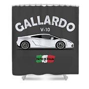 Lamborghini Gallardo Shower Curtain by Mark Rogan