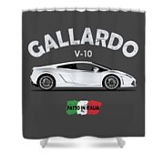 Lamborghini Gallardo Shower Curtain