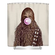 Big Chew Shower Curtain by Eric Fan