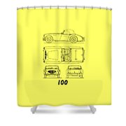 The Austin-healey 100 Shower Curtain