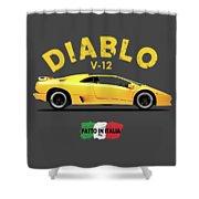 The Lamborghini Diablo Shower Curtain
