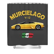The Lamborghini Murcielago Shower Curtain