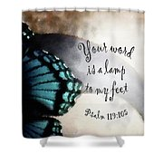 Lamp To My Feet Shower Curtain