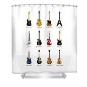 Guitar Icons No2 Shower Curtain