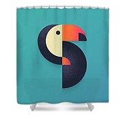 Toucan Geometric - Single Shower Curtain