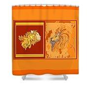 Lion Pair Hot Shower Curtain