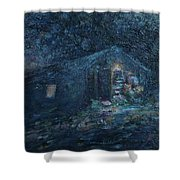 Trapp Family Lodge Cabin Sunrise Stowe Vermont Shower Curtain