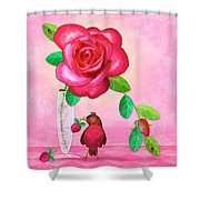 R Is For Rose And Robin Shower Curtain