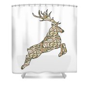 Reindeer - Holiday - North Pole Shower Curtain