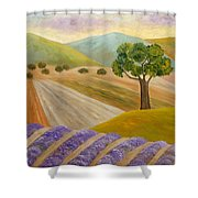 Lavender Sundown Shower Curtain