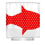 The Red Polka Dot Fish Shower Curtain