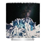 Universe In Winter Shower Curtain