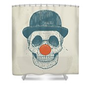 Dead Clown Shower Curtain