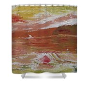Birds And Sailboat In Paradise Shower Curtain