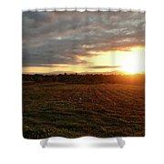 Mount Mansfield September Sunrise Seven Shower Curtain