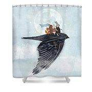 The Light Bird Shower Curtain