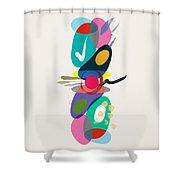 Positive Colors Building Shower Curtain
