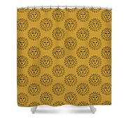 Vintage Celestial Sun Face Shower Curtain