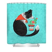 C Is For Collie Shower Curtain