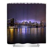 Bright Lights Of New York II Shower Curtain
