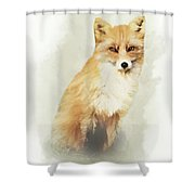Woodland Fox Portrait Shower Curtain