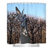 Girded By Trees, Light And An Angel Shower Curtain