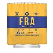 Retro Airline Luggage Tag 2.0 - Fra Frankfurt Germany Shower Curtain