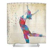 Beloved Deanna Radiating Love Shower Curtain