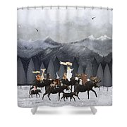 Little Nature Walk Shower Curtain