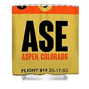Ase Aspen Luggage Tag I Shower Curtain