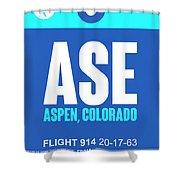 Ase Aspen Luggage Tag II Shower Curtain