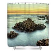 Asilomar Sunset Shower Curtain
