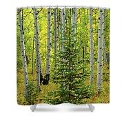 Aspen Christmas Tree Shower Curtain